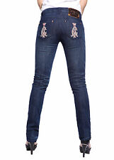 Ladies Straight Leg Jeans Full Length Slim Denim Womens Girls Skinny Trousers