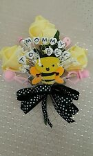 Baby shower MOMMY TO BEE bumble bee corsage boy girl pink or blue