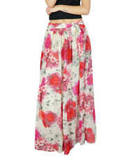 Bimba Women Long Floral Maxi Skirt Tulip Style Georgette Boho Bottoms