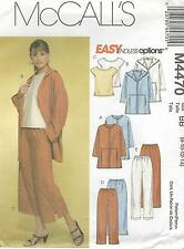 McCall's 4470 Misses'/Miss Petite Unlined Jackets, Top And Pants In Two Lengths.