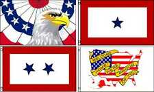 3ft x 5ft Polyester PatrioticFlags  USA Eagle Blue Star Family Member in Service