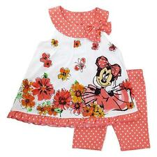 New Disney Minnie Mouse Toddler Girl's Tunic & Leggings 2T 3T 4T