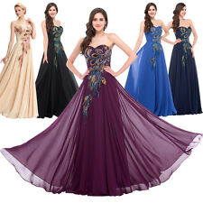 Womens Chiffon Long Formal Evening Party Gown Bridesmaid Dress Plus 2-16-18-20+