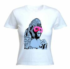 BANKSY MASKED GORILLA WOMENS T-SHIRT - Sizes S to XL