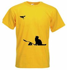 BANKSY CAT & MOUSE MEN'S T-SHIRT - Choice Of Colours - Sizes Small to XXXL