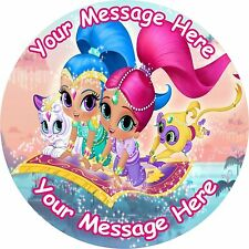 "SHIMMER AND SHINE  ROUND 7.5"" CAKE TOPPER ICING OR RICEPAPER"
