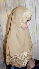 1 Piece Amira hijab underscarf hood Lace Lycra NEW pullover