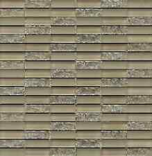 Sparkle Series SAND Small Subway Mosaic Tiles - backsplash tile/bathroom tile