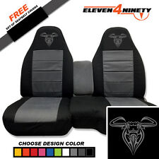 91-15 Ford Ranger Blk Charcoal 60-40 Seat Covers Bull Design. Choose UR color