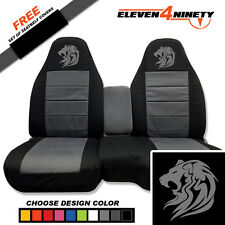 91-15 Ford Ranger Black Charcoal 60-40 Seat Covers Tribal Lion Choose UR colors