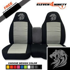 91-15 Ford Ranger Black Silver 60-40 Seat Covers Tribal Lion Choose UR colors