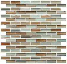 Sunset Beach Hand Painted Glass Mosaic Subway Tiles - Backsplash/bathroom tile