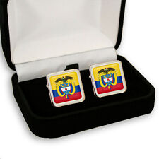 COLOMBIA FLAG & COAT OF ARMS MEN'S CUFFLINKS + GIFT BOX