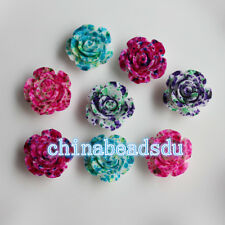 Wholesale 14mm Acrylic Resin Rose Flower Spacer Loose Beads Bracelet Necklace