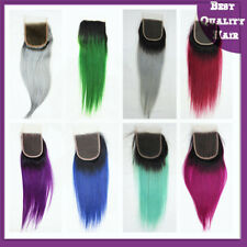4x4'' Lace Top Closure Ombre Human Hair Brazilian Straight Remy Hair Extenshions