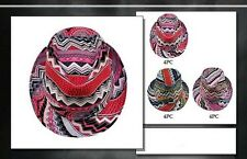 Fedora Trilby Hats For Women & Adults   - Colorful Prints ( FedHat45 ^)