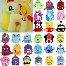 Children Kids Soft Plush Travel Snacks School Bag Cartoon Rucksack Backpack
