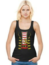 Halloween Pirate Buccaneer Costume Outfit Suit Women Tank Top Uniform