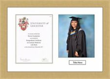 """30mm Tempest Graduation Frame A4 Certificate 10"""" x 8"""" Photo & Title White Mount"""