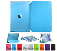 Screen Protector /Ultra Slim Magnetic Transparent Case For New iPad6/ Air 2