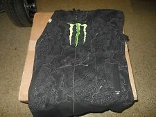 New One Industries Monster energy zip up hoody black 36021 in stock