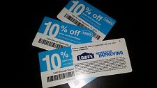 (5) Lowes 10% off coupons Save up to $500 September 15th 09/15/16 REAL COUPONS