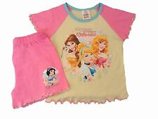 Girls Disney Happiness is being a Princess Short Pyjama Sleepwear Nightwear