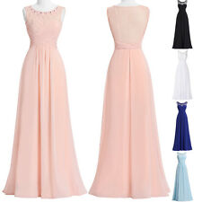 Chiffon Long Evening Bridesmaid Dress Formal Party Gown Prom Masquerade Dresses