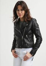 Women's Leather Jacket Slim Fit Genuine Lambskin Biker Motorcycle Jacket  WJ275