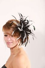 Black & Ivory  Fascinator hat/choose any colour satin/ feathers