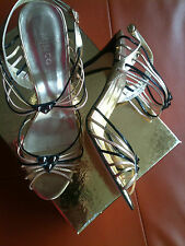 MIMCO SHOES METALLIC LEATHER HEELS STUDDED EMBELLISHED SIZE 41 RRP: $ 450.00