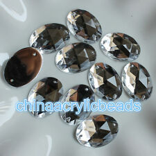 20/30PCS 10-18MM crystal cut faceted sew on rhinestone flatback beads garment DI