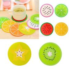Fruit Coaster Silicone Cup Drink Holder Tableware Placemat Banquet Table Decor