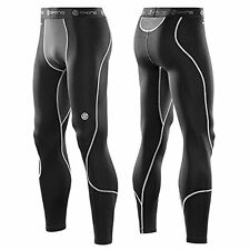 YOUTHS MENS SKINS CARBONYTE BLACK COMPRESSION BASE LAYER TIGHTS LEGGINGS COLD