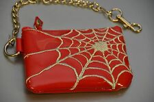 "Spider Web Coin Purse With 8"" Chain Punk Gothic Rockabilly Bikers"
