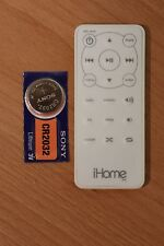 iHome iH9 Portable Travel Alarm Clock with Dock for iPod GENUINE Remote Control