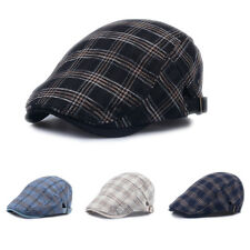 Newsboy Cotton Gatsby Cap Check Plaid Ivy Hat Golf Driving Flat Cabbie Hat New