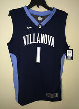 New Boys M XL NIKE Elite Villanova Wildcats #1 Navy Blue White Basketball Jersey