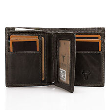 Men's Bifold Leather ID Card Holder Purse Wallet Billfold Money Clip Handbag