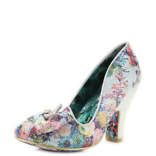 Womens Irregular Choice Nick Of Time Floral Print Bow Court Heels Shoes UK Size