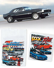 Camaro Street Huggers/ Rock N Roll Muscle T-Shirt: Z/28 SS396 RS SS 427 Chevy