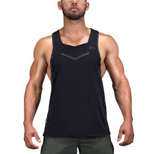 Men Gym Cotton Tank Tops Bodybuilding Sleeveless  Vest  Workout  Fitness Tops