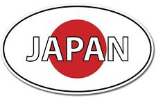 Japan Japanese Flag Oval Vinyl Sticker (phone, bumper, window, ps4, xbox)