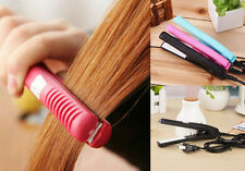 Mini Ceramic Electronic comb Hair Straightener Straightening Hot Curls Iron Pink