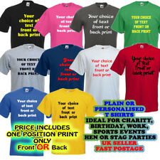PERSONALISED CUSTOM PRINTED T SHIRTS TEE SHIRT design your own man lady unisex