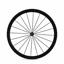700C 23mm Width 38mm Clincher Tubular Carbon Wheel  Road Bicycle Single Wheel