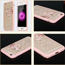 Fashion Cherry Blossom Tree Hard Clear Back Case Cover For iphone 6/6s 6/6s plus