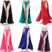 NEW Sexy belly dance Costume Skirt 2 side slits Skirt Dress up Carneval Party