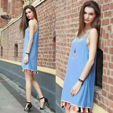 Women Sexy Summer Short Mini Cami Beach Dress Casual Evening Party Dress K8H0