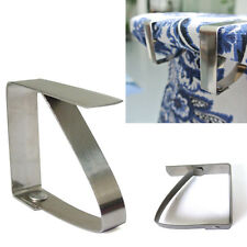Stainless Steel Tablecloth Table Cover Clips Holder Clamp Party Picnic Protector